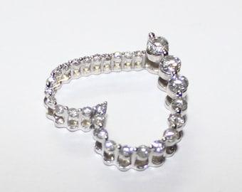 Heart Diamond Pendant 14k white gold - 18mm - sku 4493.2