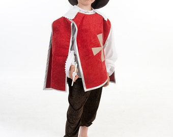 """BALANCES musketeer 4/6 years """"disguise: the Red tunic of musketeer and its accessories"""