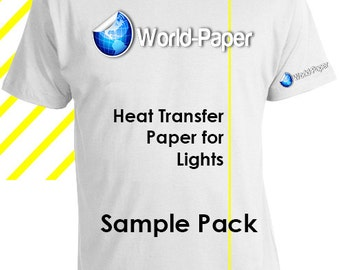"NEW Inkjet Iron-On Heat Transfer Paper for Light fabric 8.5"" x 11"" - YELLOW LINE - *10 Sheets*"