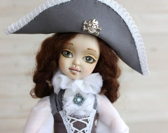 Pirate girl doll, clay doll, Collecting doll, OOAK Art Doll, Polymer clay doll, Handmade doll, gift for Christmas