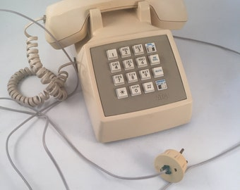 Vintage Retro Push Button Telephone by AT&T Great Condition, Retro Push Button Telephone
