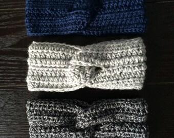 Twisty Crochet Headband, Knit Headband, Knit Earwarmer