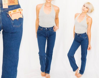 NWT dead stock USA  501 Levi's Jeans  •26 x 32 • Levis button entryTapered Leg • xs small / 26 x 32 / 25 26 waist