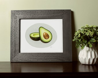 8x10 Avocado / Professional print of my original illustration