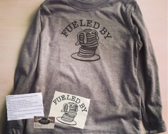 Fueled by Pancakes shirt, fueled by shirt, pancake and pajama party, pancake pajamas pancake shirt waffle shirt shirt t shirt t shirt decals