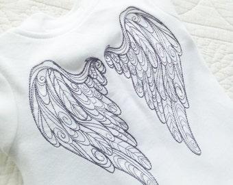 Angel wing baby grow sleepsuit