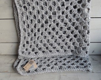 Unique crochet plaid or living blanket (wool)