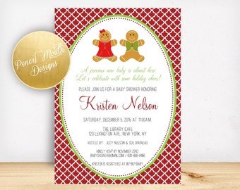 Christmas Shower Printable Party Invitation