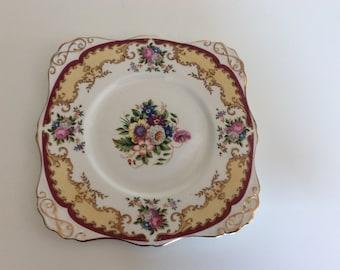 "Tuscan China Cake plate ""Lorriane"""