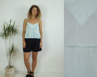 90's vintage women's mint frilly top