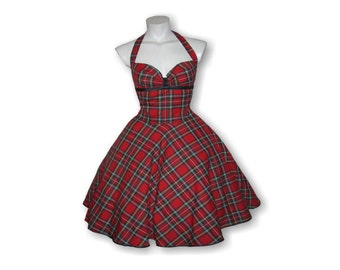 Tartan dress, prom dress, prom dress, Rockabilly dress, 50s prom dress, prom dress, 50s fashion, vintag dress