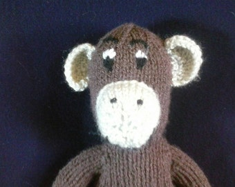 Hand Knitted Cheeky Monkey Toy