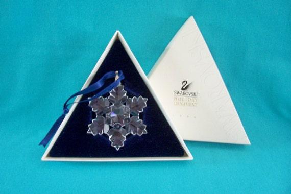 swarovski crystal 1996 holiday ornament by riverqueentreasures