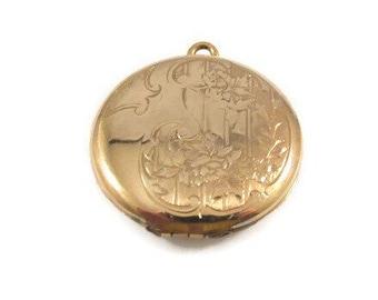Danecraft Etched Design 12k Gold Filled Locket