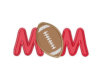 Buy3Get1 FREE - Machine Embroidery Football Mom Applique - INSTANT DOWNLOAD