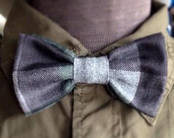 Bow tie for men pocketwatch grey/black