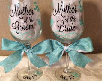 Mother of the Bride AND/OR Mother of the Groom Wine Glass