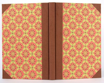 Decorative Orange and Brown Blank Book