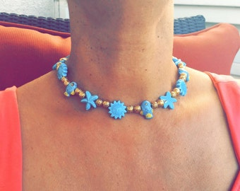 Clearance 40% Reflected in the Price - Blue Sunshine Memory Wire Choker