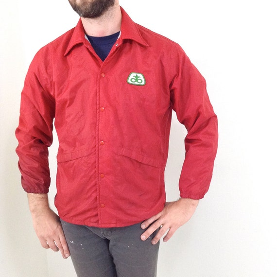 Red Nylon Windbreaker 101