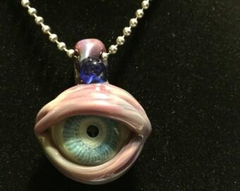 Double Sided Glass Eye Pendant!
