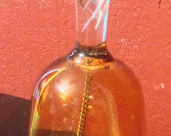 Vintage Amber Glass Bell