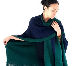 Onuma scarves- Black and Green Winter scarf