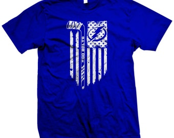 Tampa Bay Lightning Hockey American Flag Shirt - Two Colors to Choose From - GO BOLTS - Stanley Cup!