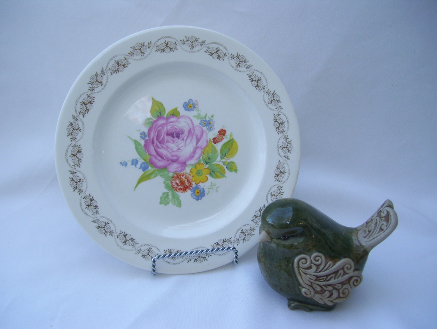 image is loading 3 royal china dinner plates 22k gold rose - China Dinner Plates