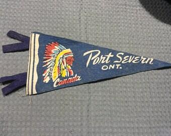 Point Severn, Ontario Felt Pendant Vintage Souvenir