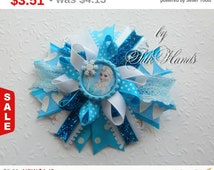 Back to school Sale One Day Sale Frozen Bow - - Over the Top Bow - Elsa party - Girls Hair Bows