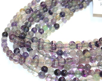 6mm Rainbow Flourite High Quality 16 Inch Strands, 64 beads