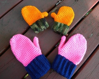 Mittens - Crocheted - Ready to ship