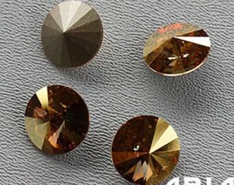 METALLIC SUNSHINE: Swarovski Elements Article #1122 14mm Rivoli Rhinestone (4)