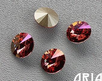 ROSE CHAMPAGNE: Swarovski Elements Article #1122 14mm Rivoli Rhinestone (4)