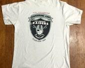 True vintage 1984 LA Raiders afc champions Superbowl xviii los angeles