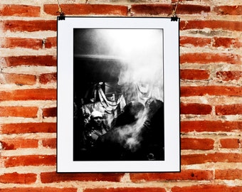 Black and White Digital Photography Download, Street Photography Mexico, Digital Instant Download, Printable Black and White Photography