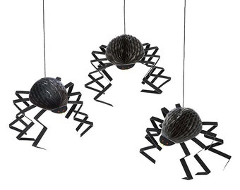 CLEARANCE! - Honeycomb Spider Decorations (Set of 6) Halloween | Itsy Bitsy Spider