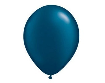 "11"" PEARL Navy Blue Latex Balloons"