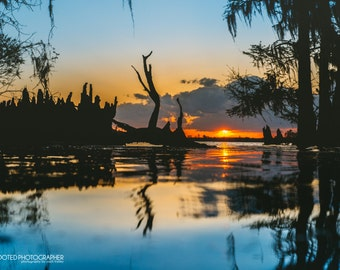 Spring Solitude- sunset on the Neuse River