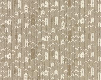 Moda BASIC GREY Persimmon Tan Off White Cream Arrow 30385-14 Fabric BTY 1 yd
