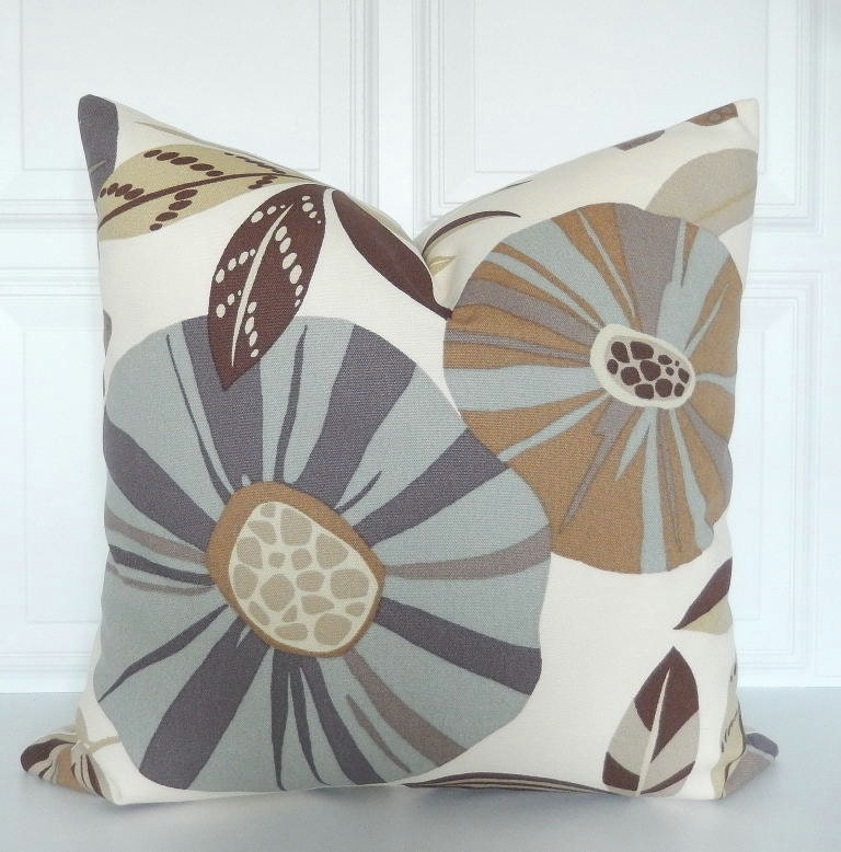 Blue And Brown Decorative Pillow Cover : Brown & Blue Pillow Cover Decorative Pillow Earth Tones