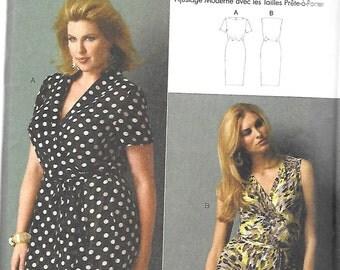 Butterick WRAP DRESS by Connie Crawford Pattern 5898 Woman's Sizes XXL 1X 2X 3X 4X 5X 6X