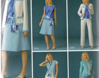 Simplicity Threads  Pattern 4241 PANTS Top SKIRT Vest JACKET Misses 18 20 22 24 26