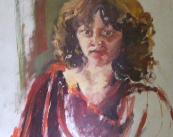 Painting Oil on Canvas/ Portrait of Eileen