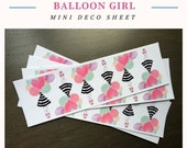 Balloon Girl Mini Deco Stickers For Your Planner