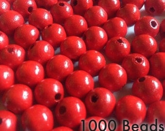 Olive Green Wood Beads 10mm