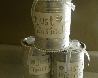 wedding car decoration just married wedding cans