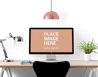 Styled Stock Photography, Minimalist Desk Mock Up - Instant Download Commercial Use Allowed