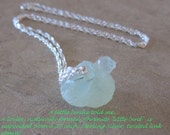 """Prehnite (with Epidote) """"Birdie"""", Sterling Silver, 20 Inch, Pendant Necklace - Earth & Water Elements - by Silla - PBN1"""